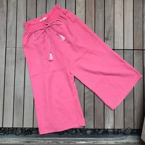 The Impeccable Pig | Pink Wide Leg Pants w Tassels